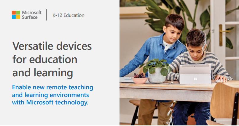 Microsoft devices for education and learning