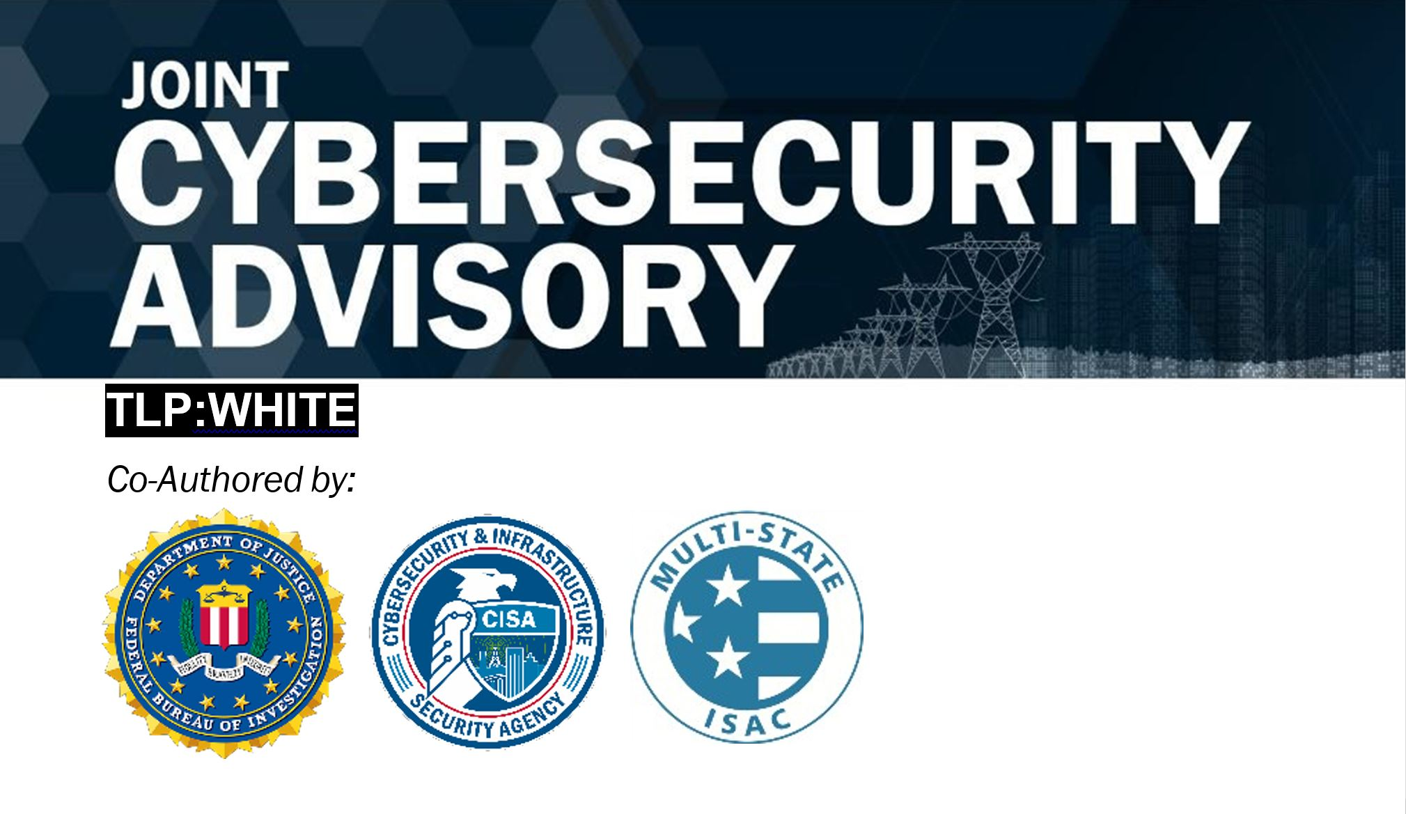 Cyber Security Advisory