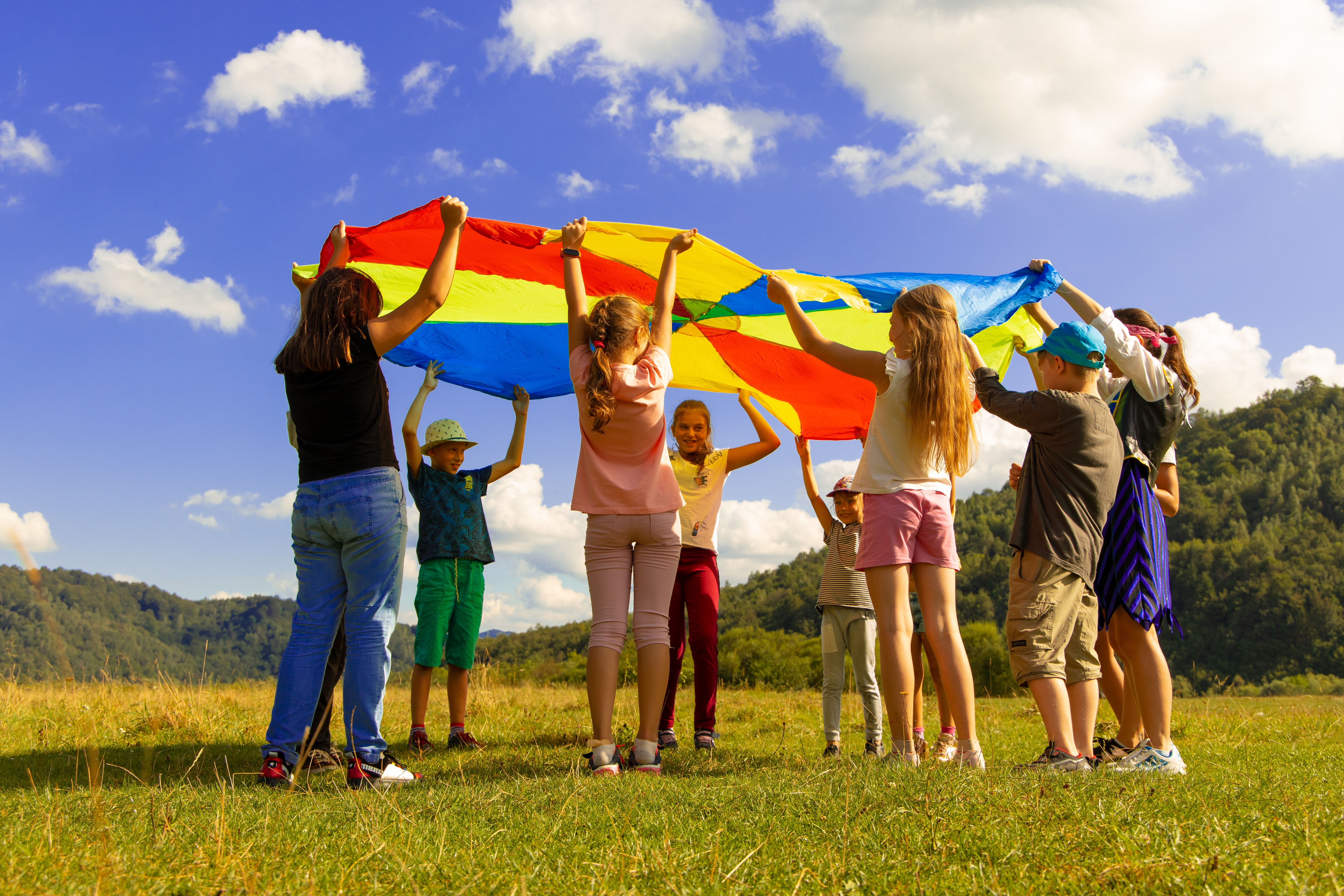 Children learning outside