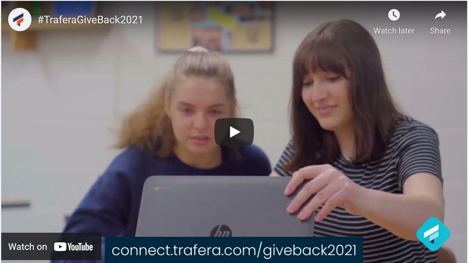 Trafera Gives Back Video