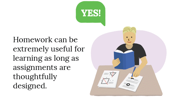 Yes - Homework can be extremely useful for learning as long as assignments are thoughtfully designed